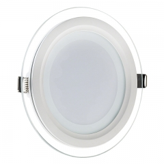 LED  6W 12W 18W Round Glass LED Panel Light